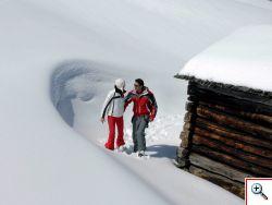 auch abseits der Pisten viel Schnee